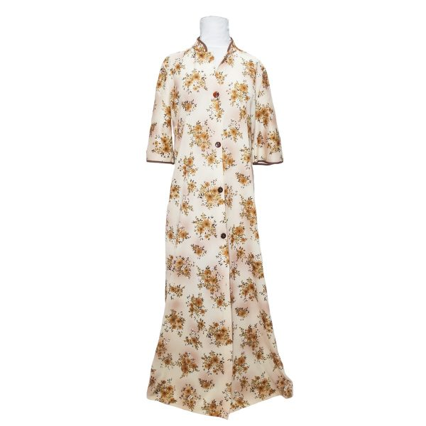 1950s Long Floral Housecoat