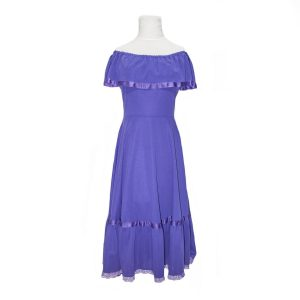 C&A 1970s Purple Boho/Gypsy Midi Dress – vintage fashion