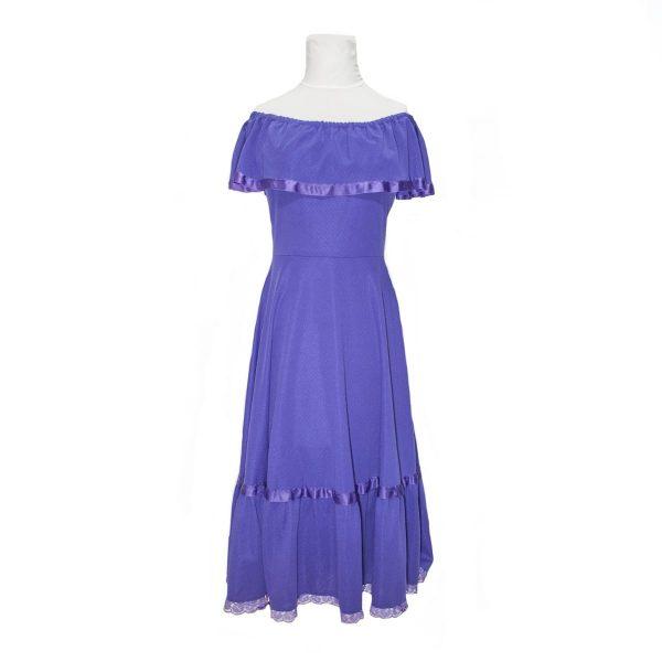 C&A 1970s Purple Boho/Gypsy Midi Dress – vintage fashion