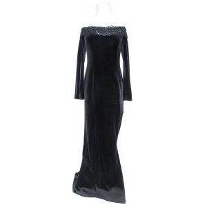 Consortium 1980s Black Evening Gown