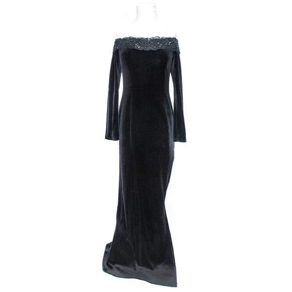 Consortium 1980s Black Evening Gown