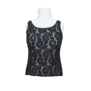 St Michaels 1990s Black Lace Top