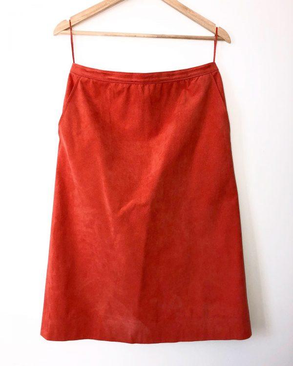 Vintage Coral A-Line Skirt