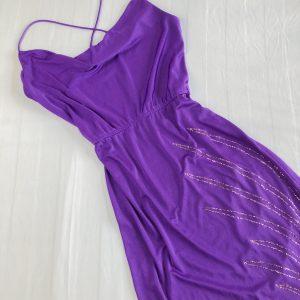 1970s Lilac Evening Dress