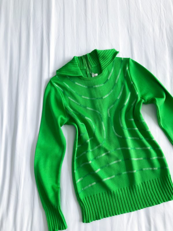 1970s Lime Green Sweater