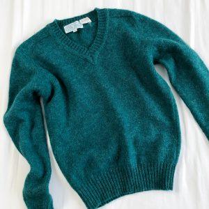 Vintage Forrest Green Wool Jumper