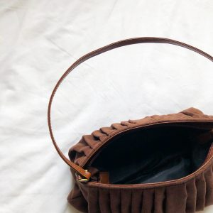 1990s Chocolate Brown Suedete Bag 2