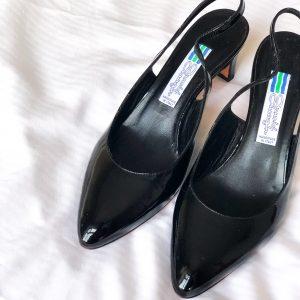 Vintage Arnold Churgin Black Slingback Heels