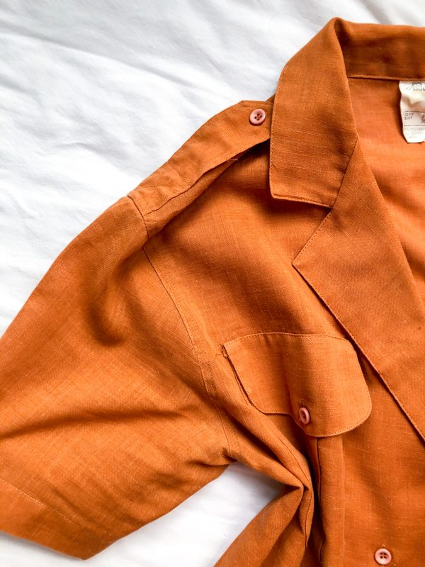 1970s/1980s Double-Breasted Rust Shirt