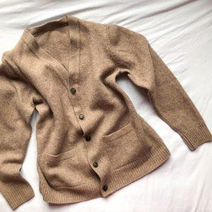 Vintage Oatmeal Wool Cardigan